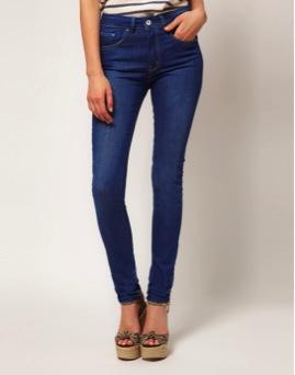 ASOS  High Waist Skinny Jeans