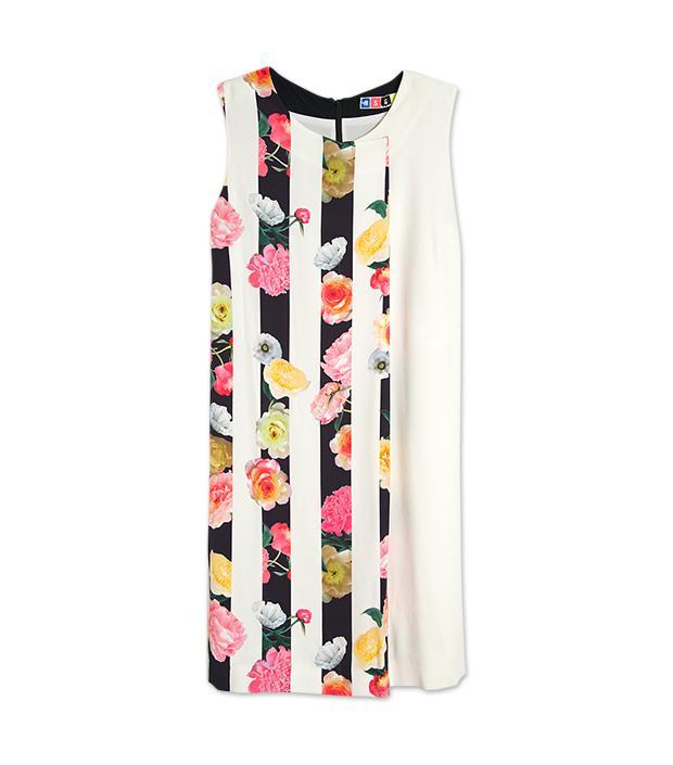MSGM Floral Stripe Print Dress ($435)