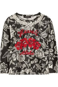 Isabel Marant Minsy Embroidered Silk-Organza Top