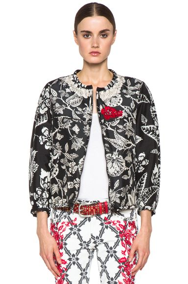 Isabel Marant Malky Hawaiian Mixed Silk Jacket