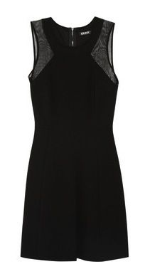DKNY Mesh-Paneled Jersey Dress