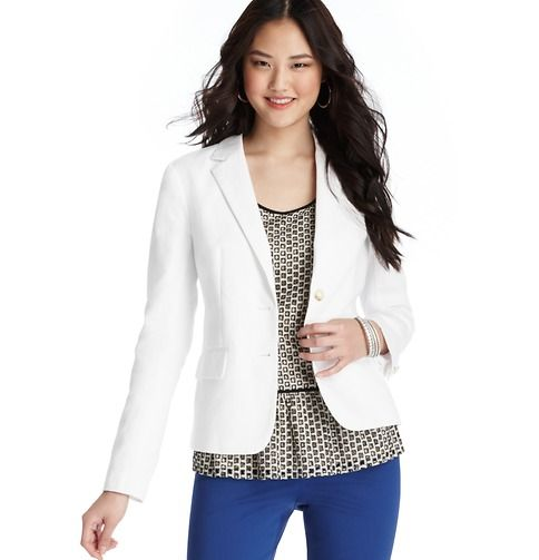 LOFT  Cotton Linen Blazer