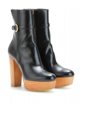 Stella McCartney  Wooden Platform Ankle Boots