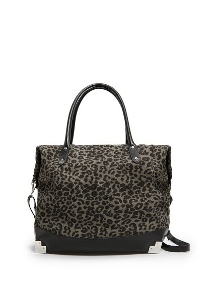 Mango Touch  Leopard Print Tote