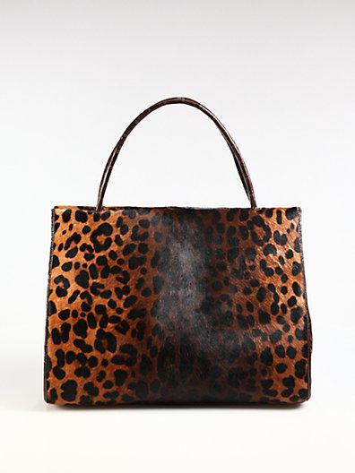 Nancy Gonzalez  Leopard-Print Haircalf Tote