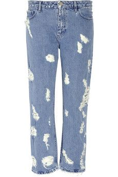 Acne Pop Trash High-Rise Distressed Jeans