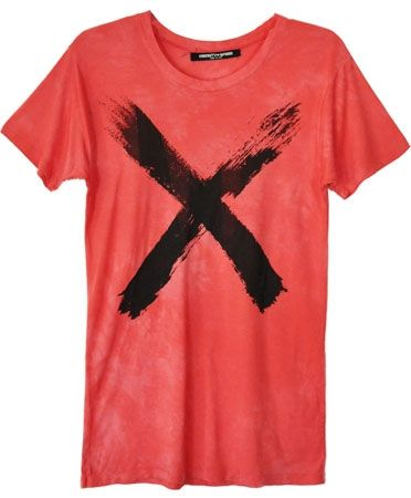 Obesity and Speed  Red X Crew Neck Tee