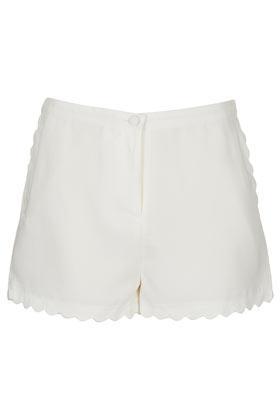 Topshop  Scallop Hem Shorts