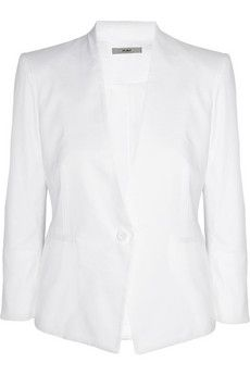Helmut Lang  Stretch Cotton-Blend Twill Blazer