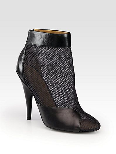 3.1 Phillip Lim  Shirley Mesh & leather Ankle Boots