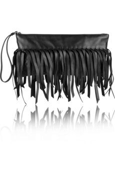 Bottega Veneta  Fringed Intrecciato Leather Clutch