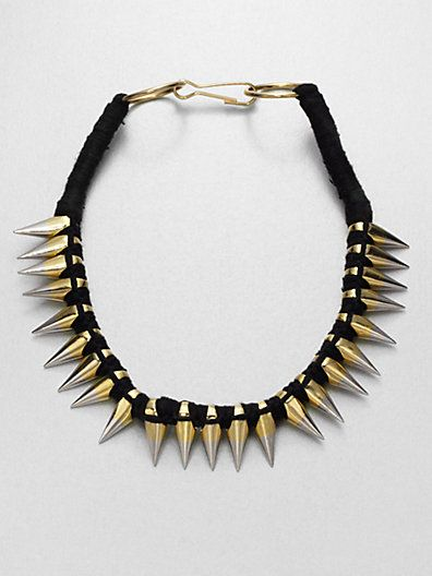 A.L.C.  Two-Tone Spiked Necklace
