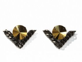 Fallon Fallon Area 51 Pointed V Earrings