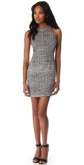 Charlotte Ronson Charlotte Ronson Sheath Dress with Sheer Panels