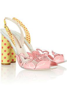 Sophia Webster Flamingo Printed Vinyl Sandals