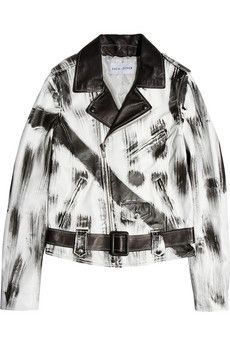 Each X Other  Printed Leather Biker Jacket