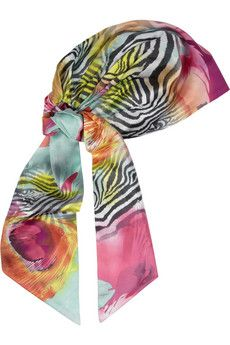 Eugenia Kim Gigi Printed Silk-Charmeuse Headscarf