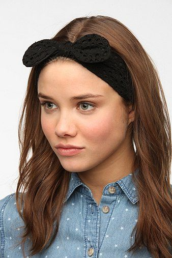 Urban Outfitters Eyelet Bow Headwrap