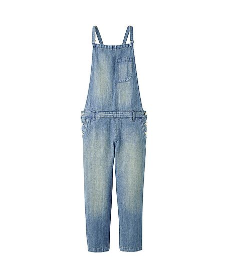 Uniqlo Linen Blended Denim Overalls