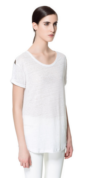 Zara Linen T-Shirt
