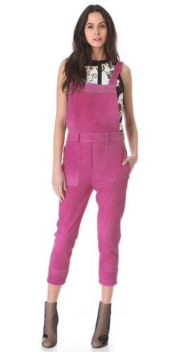 3.1 Phillip Lim Watercolor Suede Overalls