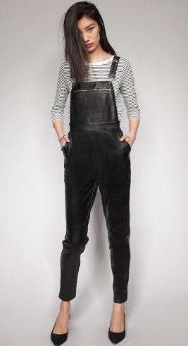 Pixie Market Wythe Leather Overalls
