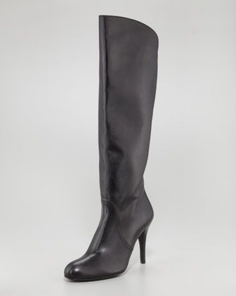 Stuart Weitzman Park Stretch-Inset Napa Leather Knee Boots