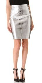 Milly  Milly Mirrored Python Pencil Skirt