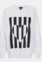 Topshop Heart Graphic Sweatshirt