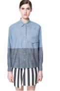 Zara Two-Toned Chambray Shirt