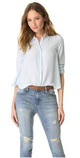 Band of Outsiders Cropped Band of Outsiders Cropped and Boxy Shirt