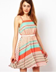 Striped Dress With Belt  Jarlo