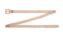 Reiss Enzo Metal Chain Link Belt