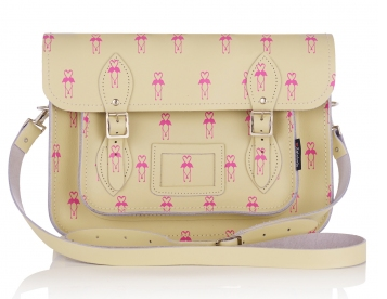 Zatchels Flamingo Leather Satchel Bag