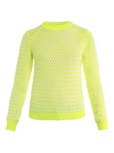 Kenzo Neon Basket-Weave Sweater