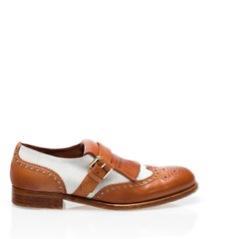 Massimo Dutti  Massimo Dutti Two-Tone Brogue Blucher Loafers
