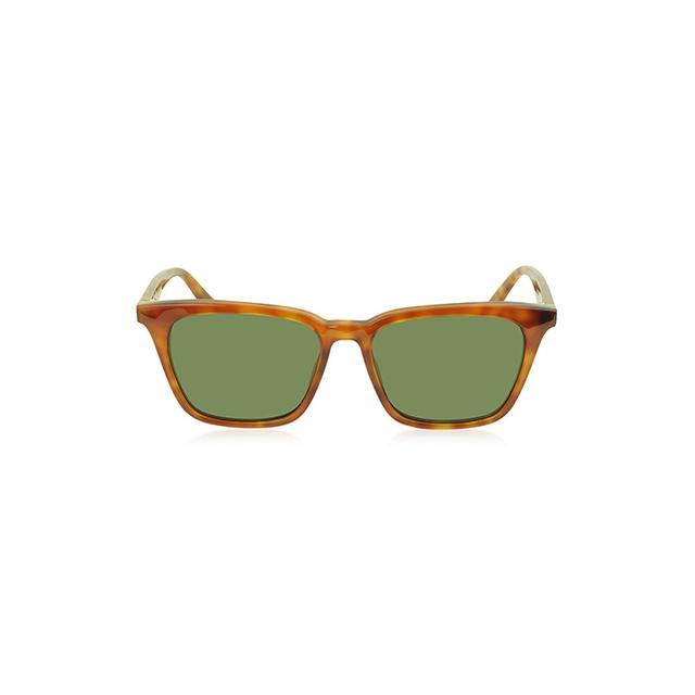 Céline Thin Squared Havanna Acetate Women's Sunglasses