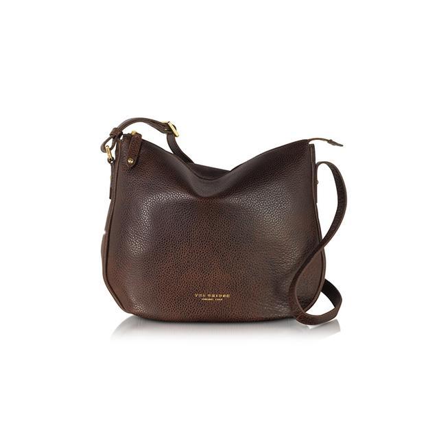 The Bridge Sfoderata Soft Dark Brown Leather Shoulder Bag