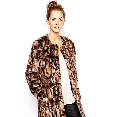 Tabby Fur Coat