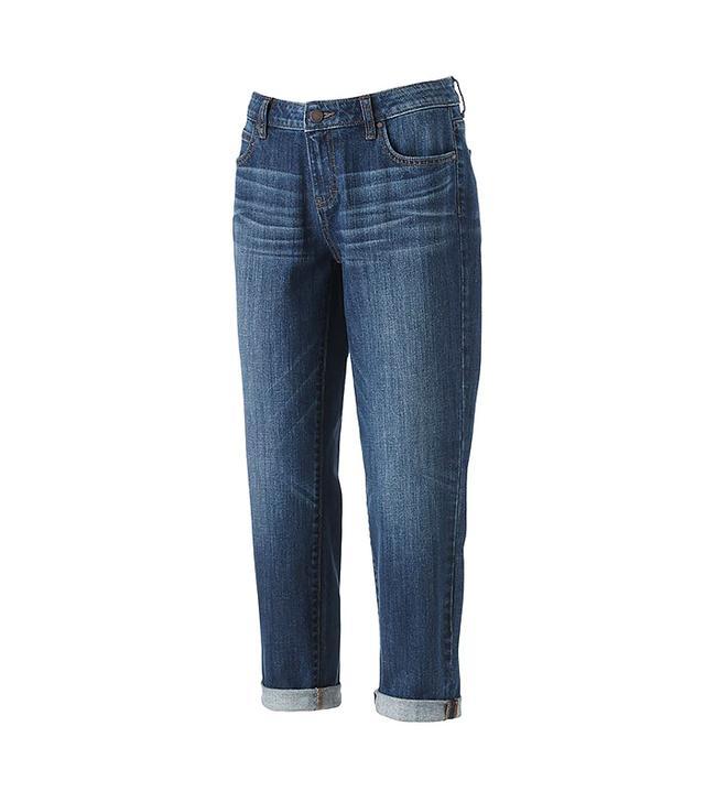 Jennifer Lopez Faded Boyfriend Jeans