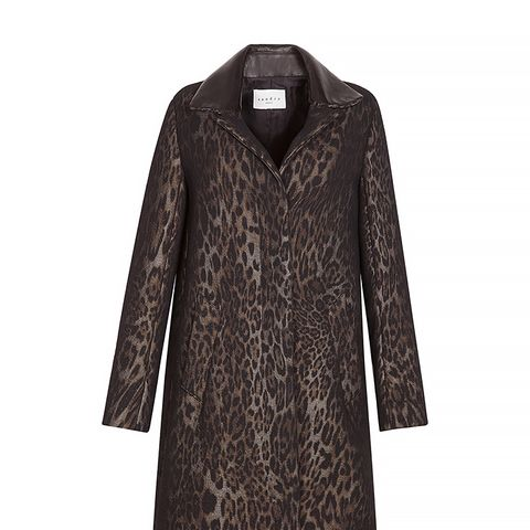 Mellow Blurred Leopard Print Coat