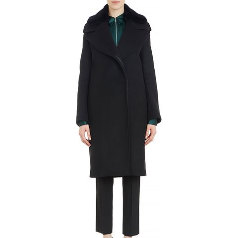 Era Fur-Collar Wool Coat