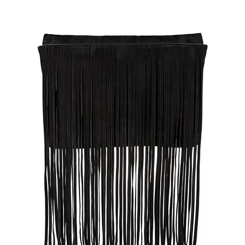 Joni Fringed Suede Clutch