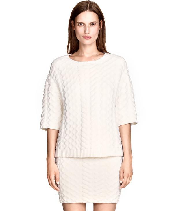 H&M Pattern-Knit Skirt