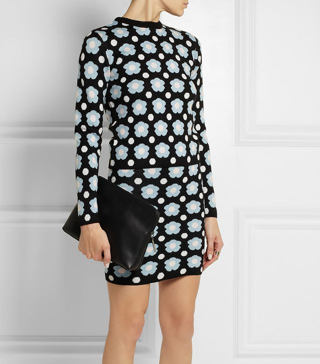 J.W. Anderson Floral Merino Wool Mini Skirt