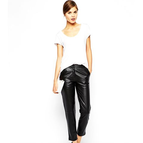 Leather Peg Pants