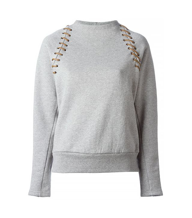 Le Ciel Bleu Lace-Up Sweater