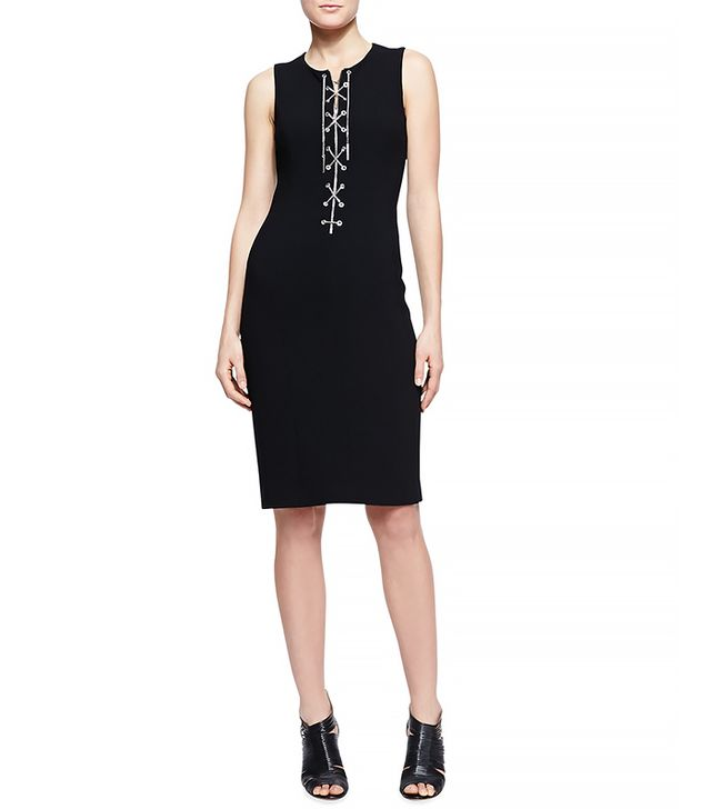 Michael Kors Chain-Front Fitted Dress