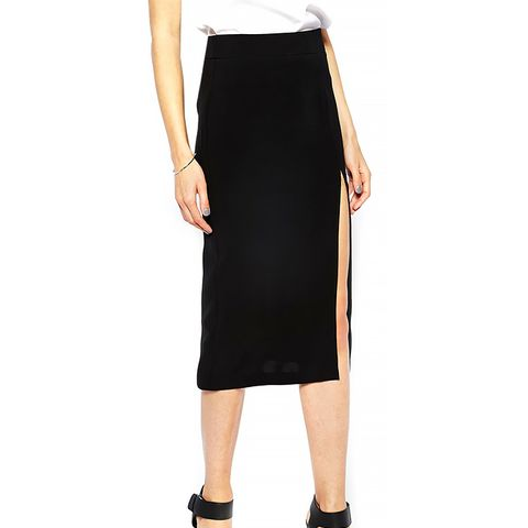 Pencil Skirt With Split