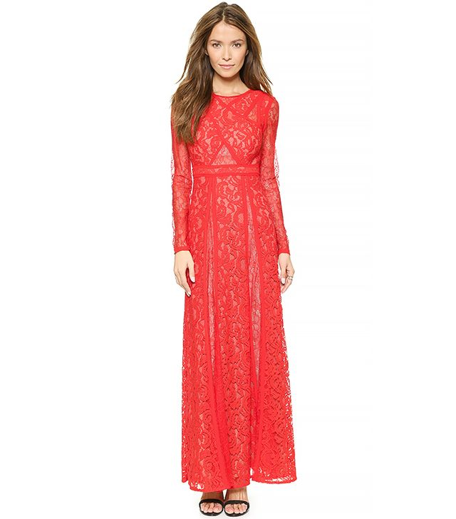 BCBGMAXAZRIA Kalie Lace Maxi Dress